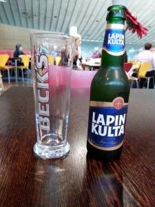 Finnisches Bierchen mit deutschem Glas