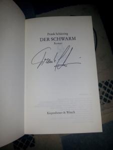 """Meine signierte Ausgabe von """"Der Schwarm"""""""